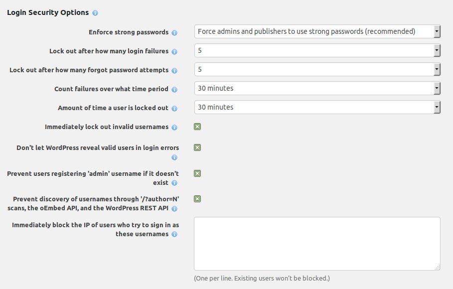 Wordpress Wordfence Login options INFORMATUX