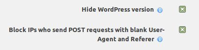 Wordpress Wordfence others options INFORMATUX