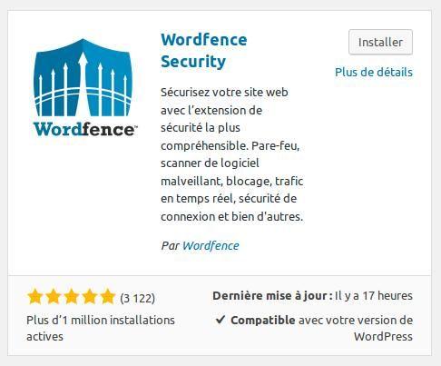 Wordpress plugin Wordfence installation INFORMATUX