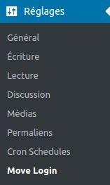 Wordpress sécurité login menu INFORMATUX