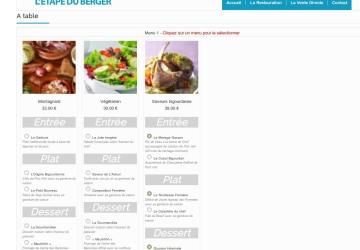 Réservation en ligne plugin Wordpress (Restaurant Etape du Berger Col du Tourmalet)