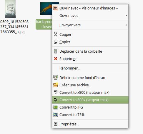 INFORMATUX - actions personnalisées menu contextuel THUNAR XFCE