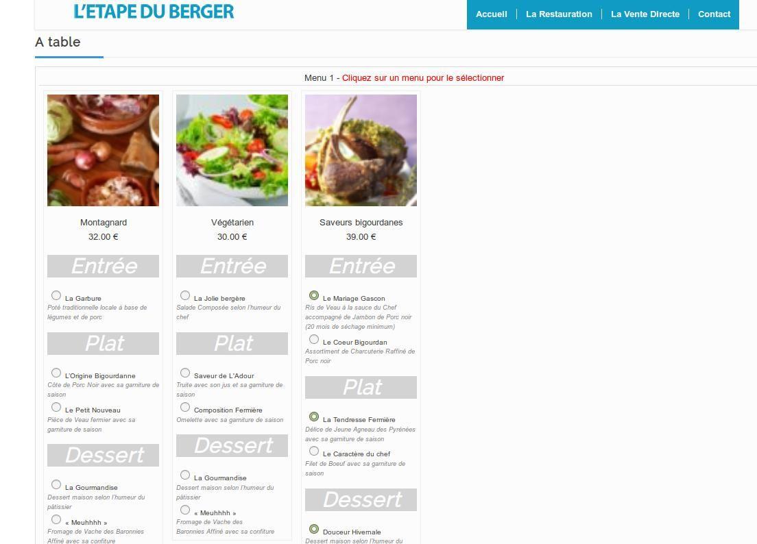 INFORMATUX Développements PHP JQUERY Mobile Cross-platform Sécurité Web Réservation en ligne plugin Wordpress (Restaurant Etape du Berger Col du Tourmalet)