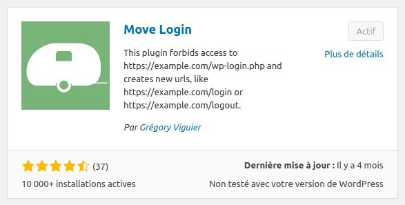 Wordpress sécurité login INFORMATUX