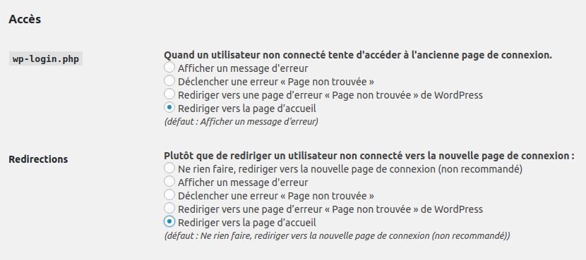 Wordpress sécurité login comportement erreur INFORMATUX